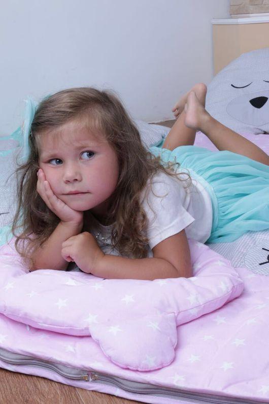 Детская ручной работы. Ярмарка Мастеров - ручная работа. Купить Детский спальный мешок Мишка Тедди. Handmade. Мятный