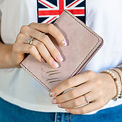 Cover handmade. Livemaster - original item Leather passport cover with the initials. Handmade.