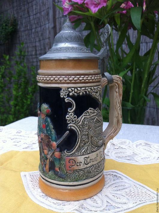 Винтажная посуда. Ярмарка Мастеров - ручная работа. Купить Пивная кружка керамика, ручная работа (Германия). Handmade. Подарок, для дачи