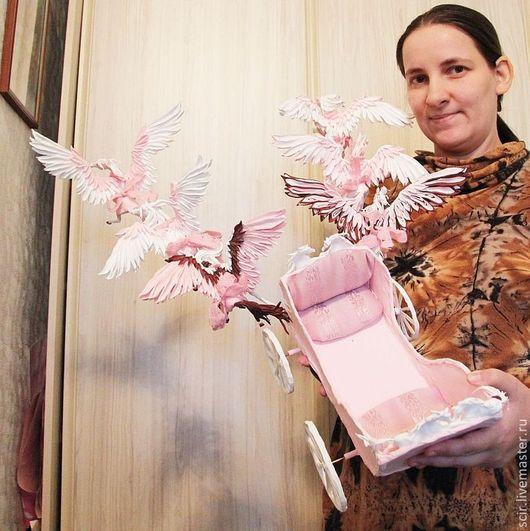 Техника ручной работы. Ярмарка Мастеров - ручная работа. Купить Карета для куклы  с шестеркой пегасов (розовый и белый). Handmade. Розовый
