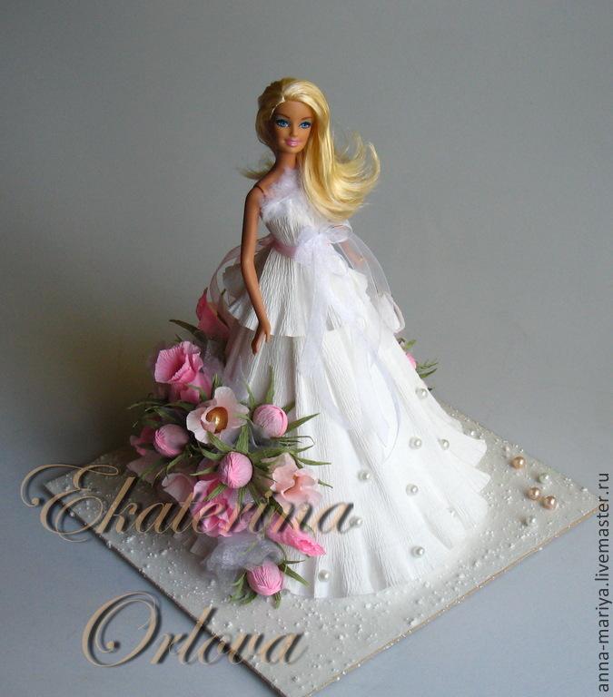 Купить Барби (композиция из конфет) - белый, кукла, куколка, барби, девочке, на День рождения