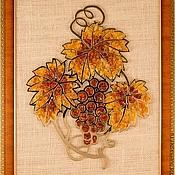 """Картины и панно handmade. Livemaster - original item Amber picture """"Grape"""". Panels of amber  """"Grape"""". Handmade."""