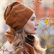 """Аксессуары ручной работы. Ярмарка Мастеров - ручная работа """"Стёжки-дорожки"""" комплект шапка бини и снуд. Handmade."""