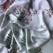 Аксессуары handmade. Livemaster - original item A gift of Roses author`s natural silk scarf pistachio background. Handmade.