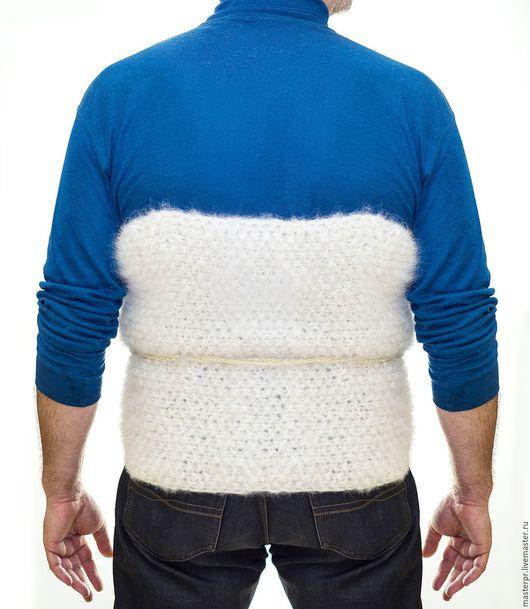 Пояс самоедский прогревающий белый . Ручное прядение. Ручное вязание . Живая Нитка . Цена 7999рублей. Готовое изделие.