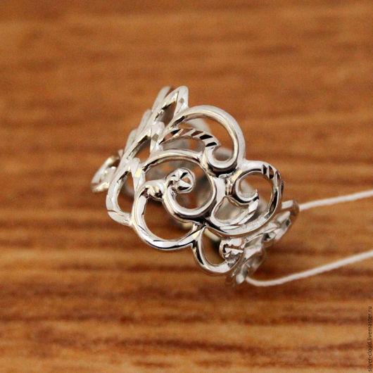 Кольца ручной работы. Ярмарка Мастеров - ручная работа. Купить Серебряное ажурное кольцо, серебро 925 пробы. Handmade. Серебряный