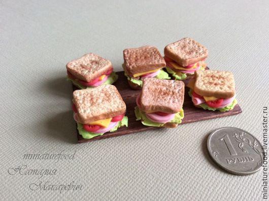 Кукольная еда.Фото еды для кукол. Миниатюра ручной работы 1:12 и 1:6. Ручная работа на Ярмарке Мастеров. фото кукольного сэндвича