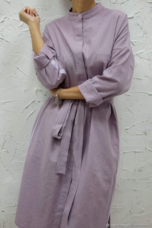 098e3dc43e9 Платья ручной работы. Ярмарка Мастеров - ручная работа. Купить Платье- рубашка из льна ...