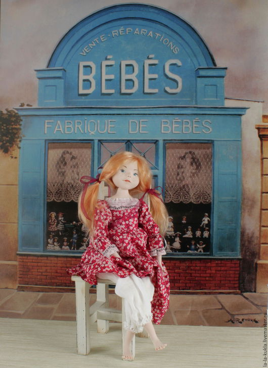 Коллекционные куклы ручной работы. Ярмарка Мастеров - ручная работа. Купить Авторская кукла Лиза (la-la-kukla). Handmade.