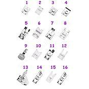 Материалы для творчества ручной работы. Ярмарка Мастеров - ручная работа Набор лапок 16 штук для швейной машины. Handmade.