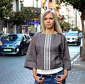 Одежда ручной работы. Ярмарка Мастеров - ручная работа Туника льняная женская. Handmade.