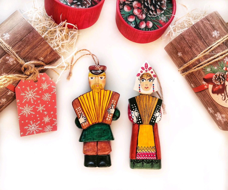 Елочные игрушки из дерева - музаканты, Кукольный театр, Москва,  Фото №1