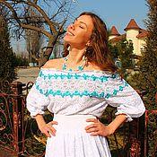 "Одежда handmade. Livemaster - original item ""Вита"" хлопок-шитье + кружева. Handmade."