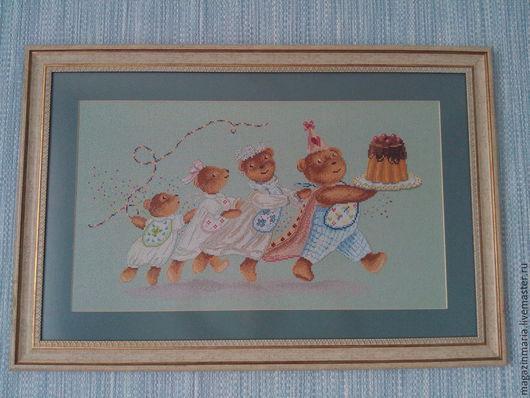 Животные ручной работы. Ярмарка Мастеров - ручная работа. Купить Семья мишек. Handmade. Морская волна, семья мишек, семья