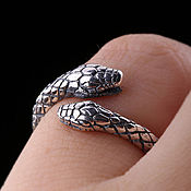 Украшения handmade. Livemaster - original item Silver ring with snakes dimensionless. Handmade.