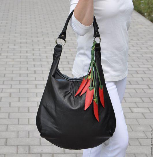 """Женские сумки ручной работы. Ярмарка Мастеров - ручная работа. Купить Кожаная сумка """" Перец Чили"""". Handmade."""