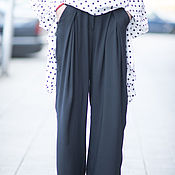 Одежда handmade. Livemaster - original item Fashion women pants, Blue pants - PA0755CV. Handmade.
