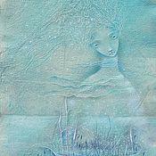 """Картины и панно ручной работы. Ярмарка Мастеров - ручная работа Картина """"Моя лодка без снастей и страстей. Море Спокойствия."""". Handmade."""