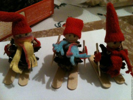 Коллекционные куклы ручной работы. Ярмарка Мастеров - ручная работа. Купить Лыжники (доставка в другие города индивидуальная оплата ваша). Handmade.
