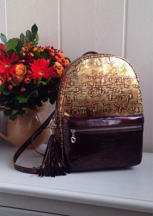 """Рюкзаки ручной работы. Ярмарка Мастеров - ручная работа. Купить Рюкзак """"GiBa"""" Золото Инков. Handmade. Рюкзак, рюкзак для девочки"""