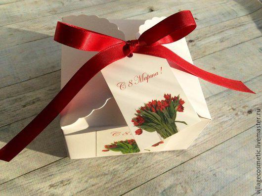 Персональные подарки ручной работы. Ярмарка Мастеров - ручная работа. Купить Подарок 8 марта. Handmade. Белый, ярмарка мастеров