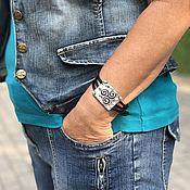 Украшения handmade. Livemaster - original item Bracelets: Massive bracelet, stylish metal bracelet, sohostel. Handmade.