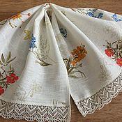 Для дома и интерьера handmade. Livemaster - original item Linen towel