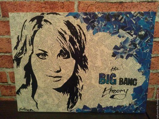 Люди, ручной работы. Ярмарка Мастеров - ручная работа. Купить The Big Bang Theory. Penny.. Handmade. Синий, портрет