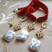 Украшения handmade. Livemaster - original item Necklace-choker, earrings