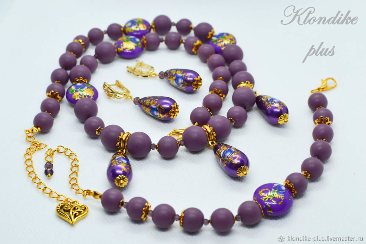 'Roses at dusk ' jewelry set with tensh, Jewelry Sets, Bratsk,  Фото №1