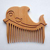 Гребни ручной работы. Ярмарка Мастеров - ручная работа Гребешок для волос -Дельфин. Handmade.