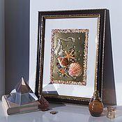 handmade. Livemaster - original item Panel of shells GOLDEN BOTTOM. Handmade.