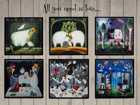 Открытки на все случаи жизни ручной работы. Ярмарка Мастеров - ручная работа. Купить Набор открыток  All you need is love.... Handmade.