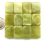 Материалы для творчества ручной работы. Ярмарка Мастеров - ручная работа Оникс  12 камней зеленый набор бусины на две нити. Handmade.