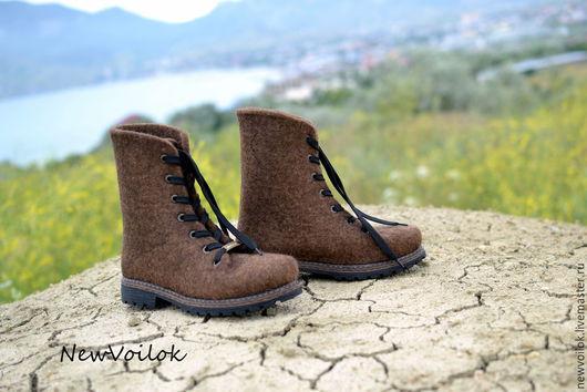 Обувь ручной работы. Женская обувь. NewVoilok. Женские ботинки. Валяные ботинки. Ботинки валяные женские.