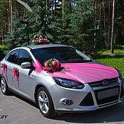 Свадебный салон ручной работы. Ярмарка Мастеров - ручная работа свадебное украшение на авто №14. Handmade.