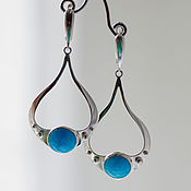 Украшения handmade. Livemaster - original item Earrings with turquoise