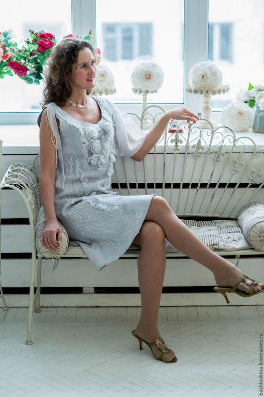 Платья ручной работы. Ярмарка Мастеров - ручная работа. Купить Валяное платье. Handmade. Валяное платье, авторское платье