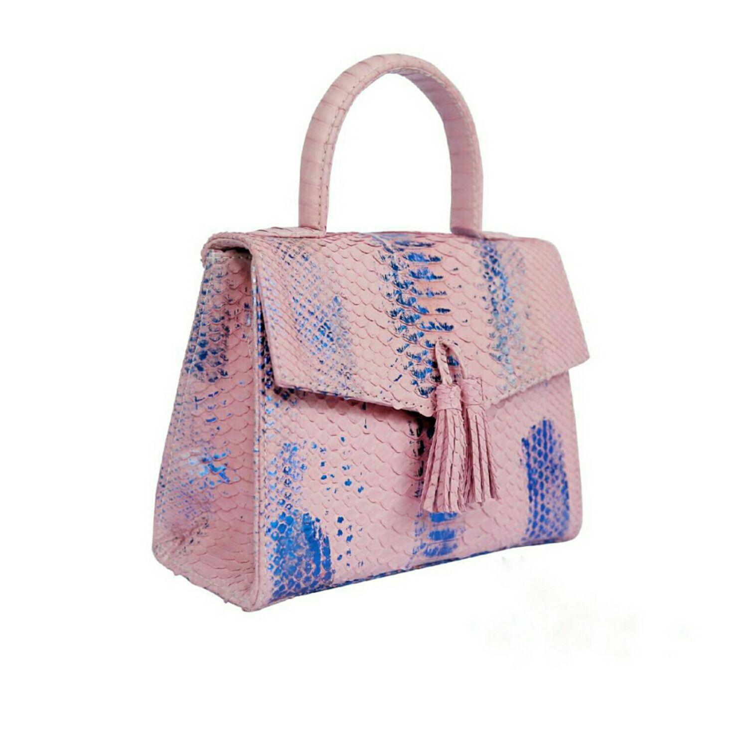 Bolso de mujer de piel de pitón 'PINK' ( trabajo por encargo ), Classic Bag, Barnaul,  Фото №1