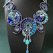 Украшения handmade. Livemaster - original item Necklace Circles (blue version). Handmade.