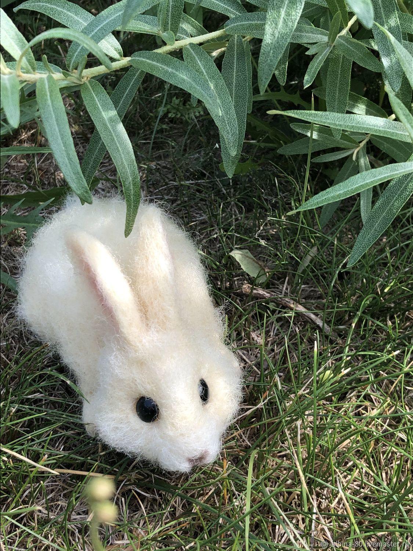 кролик, Войлочная игрушка, Апатиты,  Фото №1