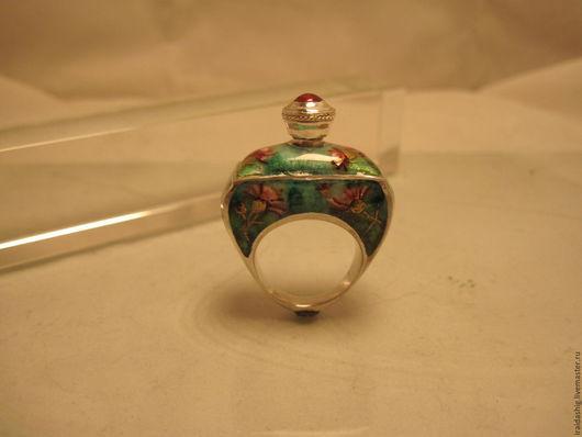 """Кольца ручной работы. Ярмарка Мастеров - ручная работа. Купить кольцо- флакон """"Чертополох"""". Handmade. Тёмно-зелёный, флакон, чертополох"""