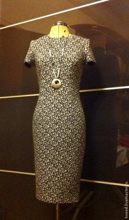 Платья ручной работы. Ярмарка Мастеров - ручная работа. Купить Маленькое платье (джерси, 100% шерсть). Handmade. Облегающий силуэт