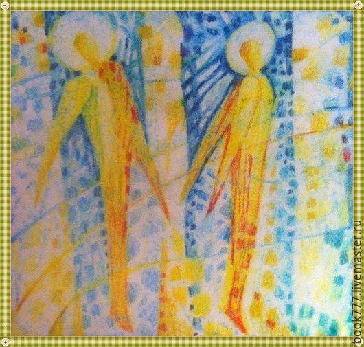 Символизм ручной работы. Ярмарка Мастеров - ручная работа. Купить Ангельский Свет. Handmade. Желтый, картина для интерьера, художник