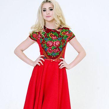 Одежда ручной работы. Ярмарка Мастеров - ручная работа Платье летнее, платье короткое, красное платье. Handmade.