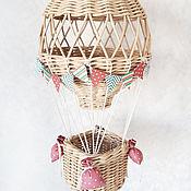Корзины ручной работы. Ярмарка Мастеров - ручная работа Плетеная корзина для детской комнаты Воздушный шар. Handmade.