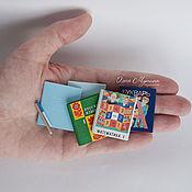 Куклы и игрушки ручной работы. Ярмарка Мастеров - ручная работа Учебники и тетради 1:6. Handmade.