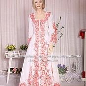Русский стиль ручной работы. Ярмарка Мастеров - ручная работа Платье свадебное для Елены. Handmade.