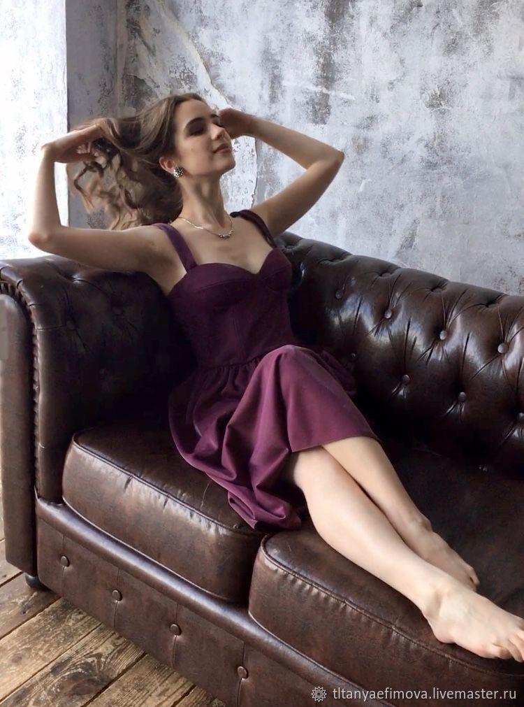 Корсетное платье-бюстье Фиолет с чашечками, Платья, Ростов,  Фото №1