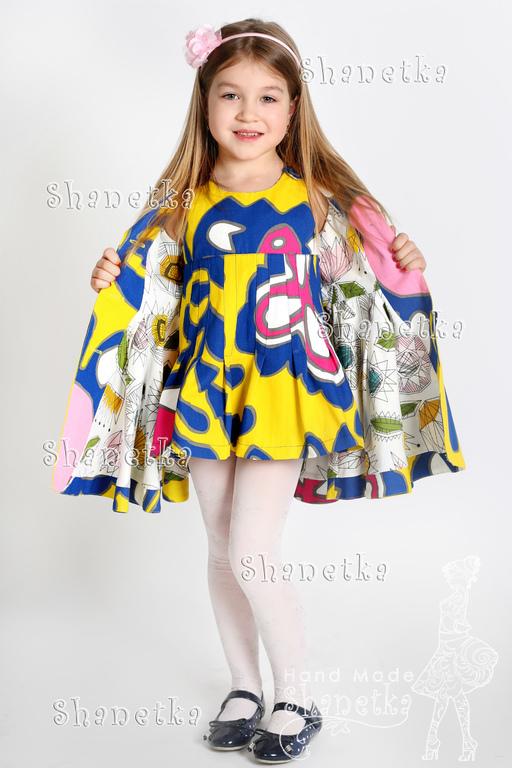 Одежда для девочек, ручной работы. Ярмарка Мастеров - ручная работа. Купить Пальто летнее для девочки хлопковые Фэркулла. Handmade.